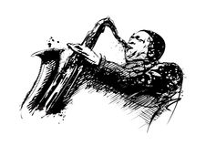 Jazzman illustration Royalty Free Stock Photo