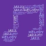 Jazzmelodie purpurrotes BG Lizenzfreies Stockbild