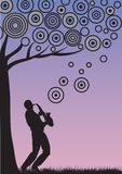 Jazzmusik Arkivbild