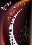 Jazzmusiker lizenzfreie abbildung