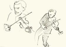 Jazzmusiker som spelar musik Arkivfoton