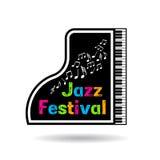 Jazzmusikfestivalillustration Stockbilder