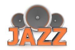 jazzorangehögtalare Arkivbilder
