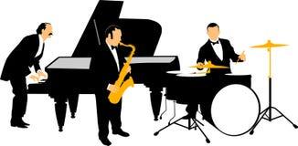 Jazzorchester Stockbild
