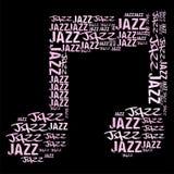Jazzowa melodia ilustracja wektor