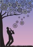 Jazzowa muzyka ilustracji