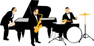 Jazzowa orkiestra Obraz Stock