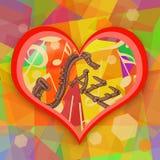 Jazzowej muzyki miłość Obrazy Stock