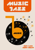 Jazzowej muzyki notatki Obrazy Stock