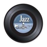 Jazzowej muzyki winylowy rejestr Fotografia Royalty Free
