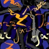 jazzowej muzyki wzór ilustracja wektor