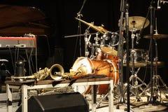Jazzowi instrumenty Zdjęcia Stock