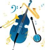 Jazzowi instrumenty ilustracji