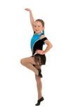 Jazzowy Dancingowej dziewczyny W połowie krok Zdjęcie Stock