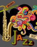 Jazzowy festiwalu muzyki plakat Fotografia Royalty Free