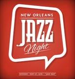 Jazzowy noc plakat Fotografia Stock