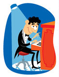 jazzowy pianista Zdjęcia Royalty Free