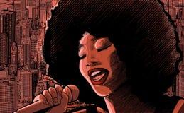 jazzowy piosenkarz ilustracji