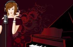 jazzowy piosenkarz Zdjęcia Royalty Free