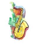 Jazzowy saksofonista Obrazy Stock