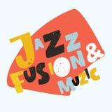 Jazzowy typograficzny wektorowy ilustracyjny tło MUZYCZNY wektor ilustracja wektor