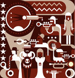 Jazzowy zespół ilustracja wektor