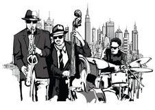 Jazzowy zespół w Nowy Jork royalty ilustracja