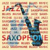 jazzsaxofon Arkivbild