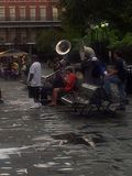 Jazzspelare i New Orleans arkivfoton
