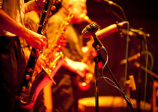 Jazzszene Stockbild