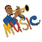 Jazztrompetter Royalty-vrije Stock Foto's