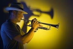 jazztrumpet arkivfoton