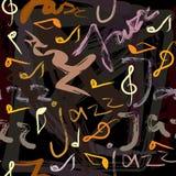 Jazzu wzór Zdjęcia Royalty Free
