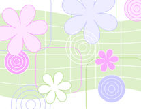Jazzy Blooms. A fresh background for your spring designs, greeting, flyer, invitation etc Stock Image