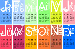 Jazzy calendar 2015 Royalty Free Stock Image