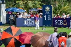 Jbe Kruger dans le championnat 2015 de golf de la Thaïlande photos stock