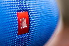 JBL Charge 3. Bishkek, Kyrgyzstan - April 21, 2017 JBL Charge 3 Side view royalty free stock photos