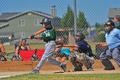 JBO Baseballhit Stockfoto