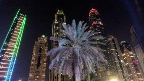 JBR beach view looking back at the skyscrapers Stock Images