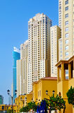 JBR Residential Buildings. The skyscrapers of Jumeirah Beach Residence Royalty Free Stock Photos