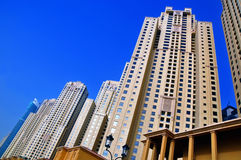 JBR Residential Buildings 2. The skyscrapers of Jumeirah Beach Residence Stock Photos