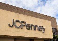JC Penney Store. SALINAS, CA/USA - FEBRUARY 8, 2014: JC Penny store in Salinas California. J. C. Penney Company Inc. is a chain of American mid-range department Royalty Free Stock Photos