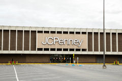 JC Penny mall parking lot entrance. JC Penny storefront at the mall Royalty Free Stock Photos