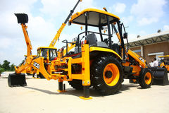 JCB 3DX Backhoe Loader Product Launch Stock Images