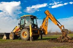 JCB 3CX SITEMASTER da máquina escavadora Fotos de Stock