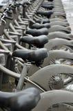 Public bicycle rental in Paris Stock Images