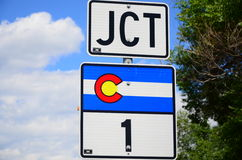 JCT mit Colorado-staatlicher Autobahn 1 Stockbilder