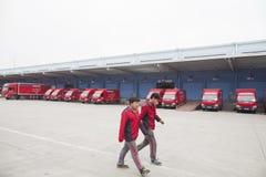 JD camions d'expédition de COM image libre de droits
