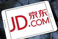 JD.com logo. Logo of JD.com on samsung tablet. JD.com is a Chinese e-commerce company. It is one of the two largest B2C online retailers in China by transaction stock photo