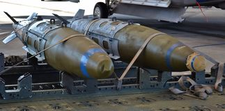 JDAM Joint Direct Attack Munition Bombs Royalty Free Stock Photo